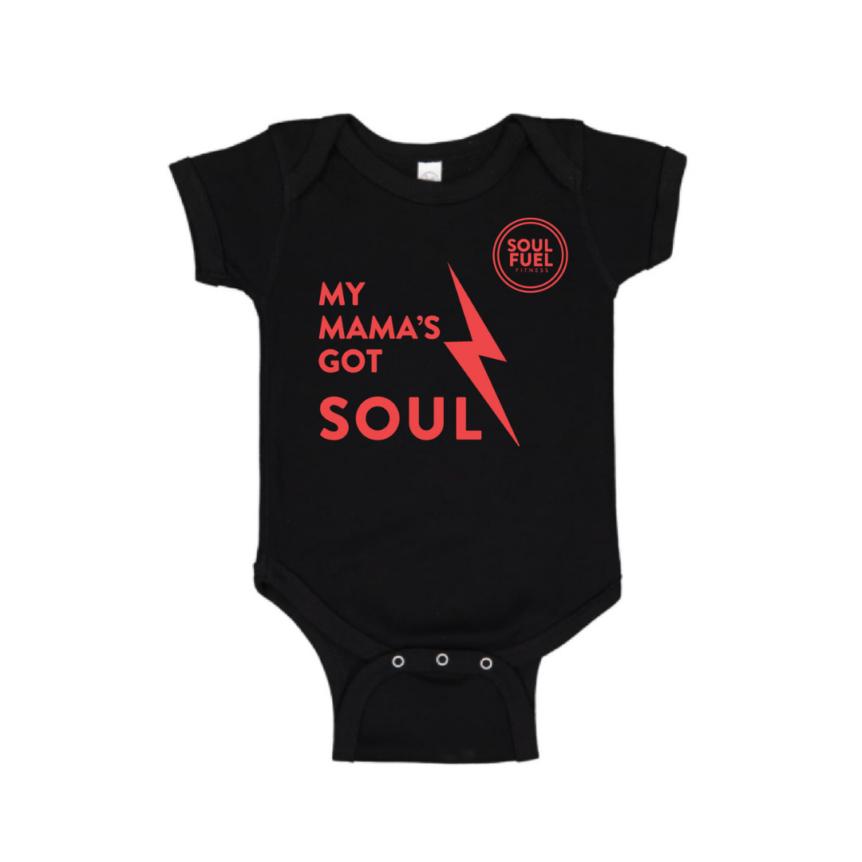 SOUL FUEL baby onesie