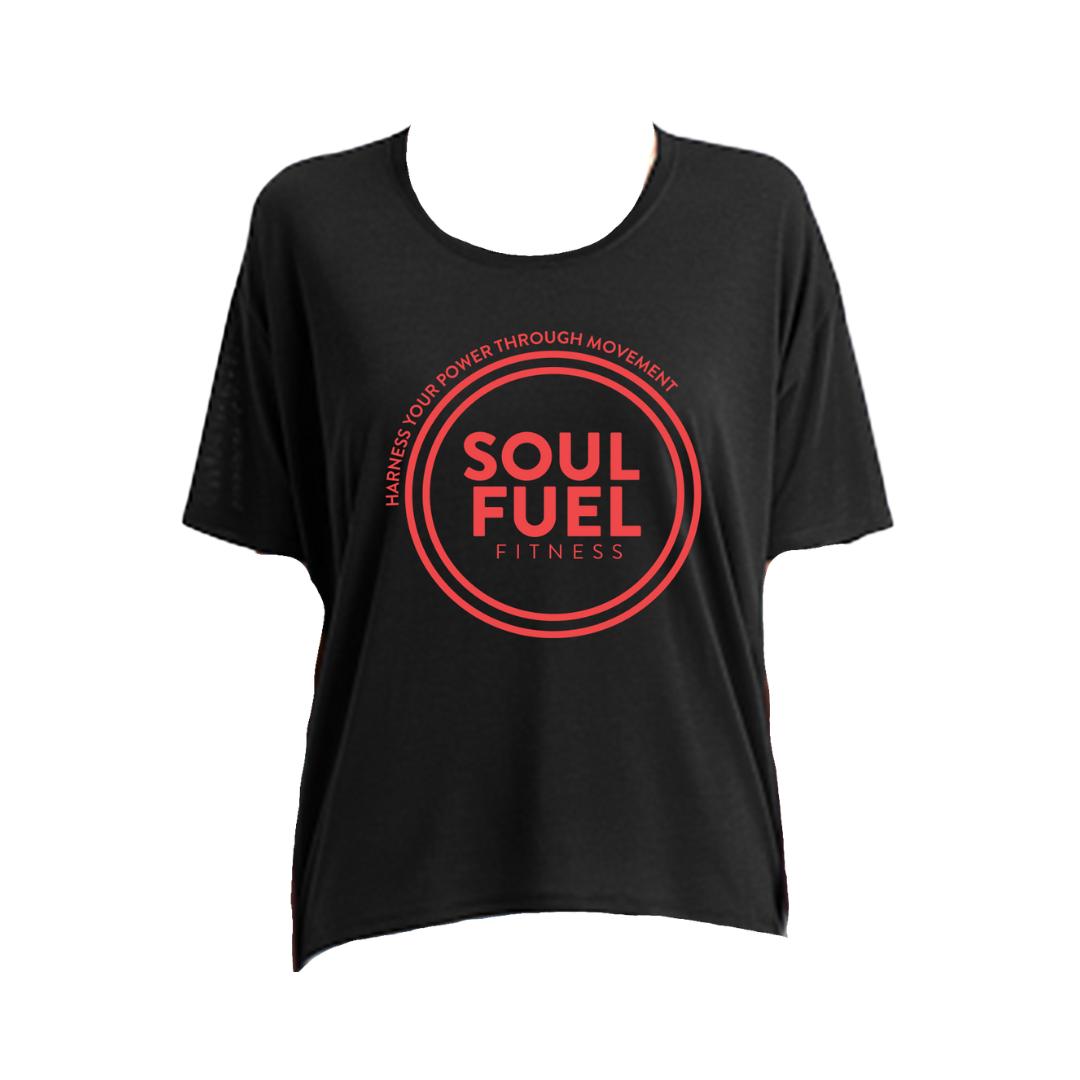 SOUL FUEL loose fit black t-shirt