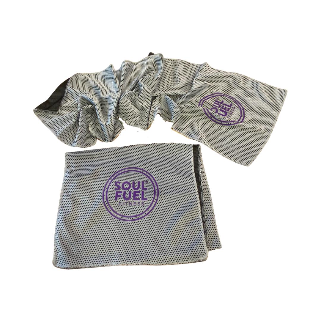 3-in-1 glider/stretch strap/microfibre towel