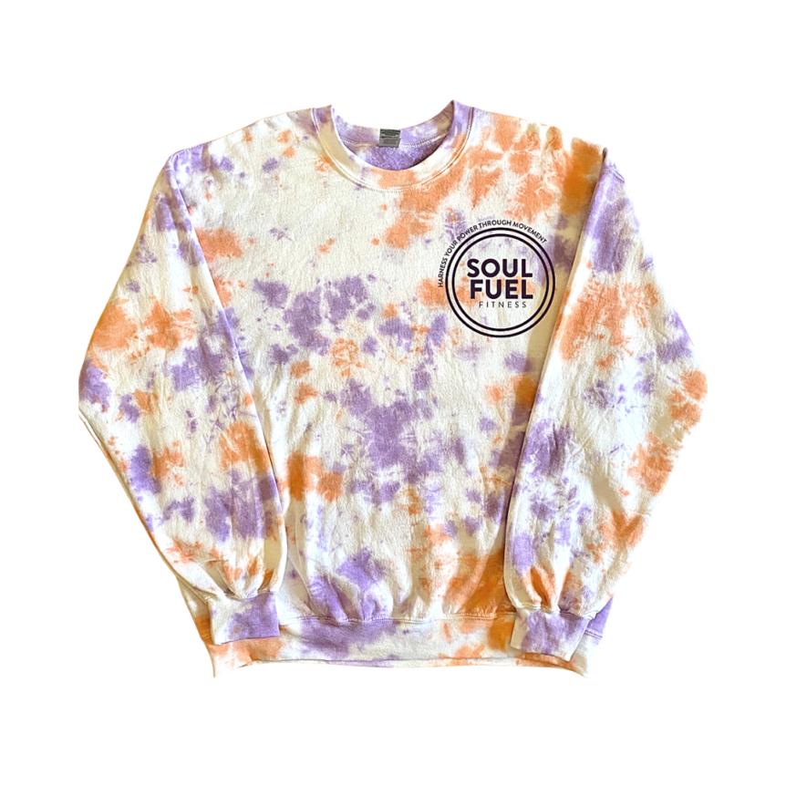 SOUL FUEL custom tie-dyed sweatshirt