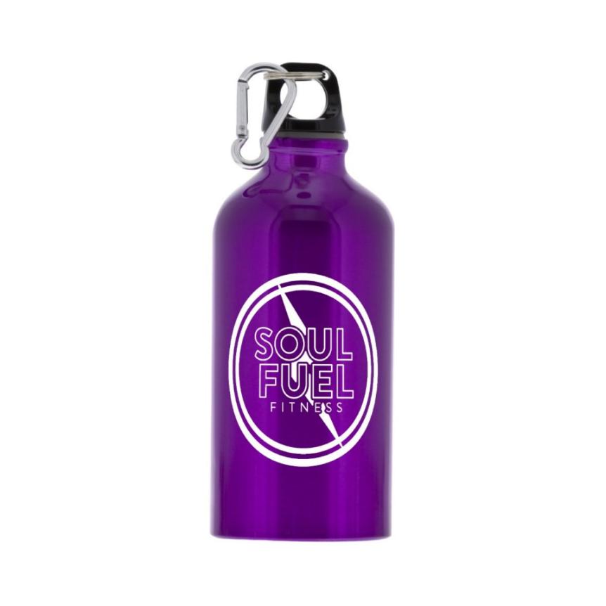SOUL FUEL purple aluminum water bottle