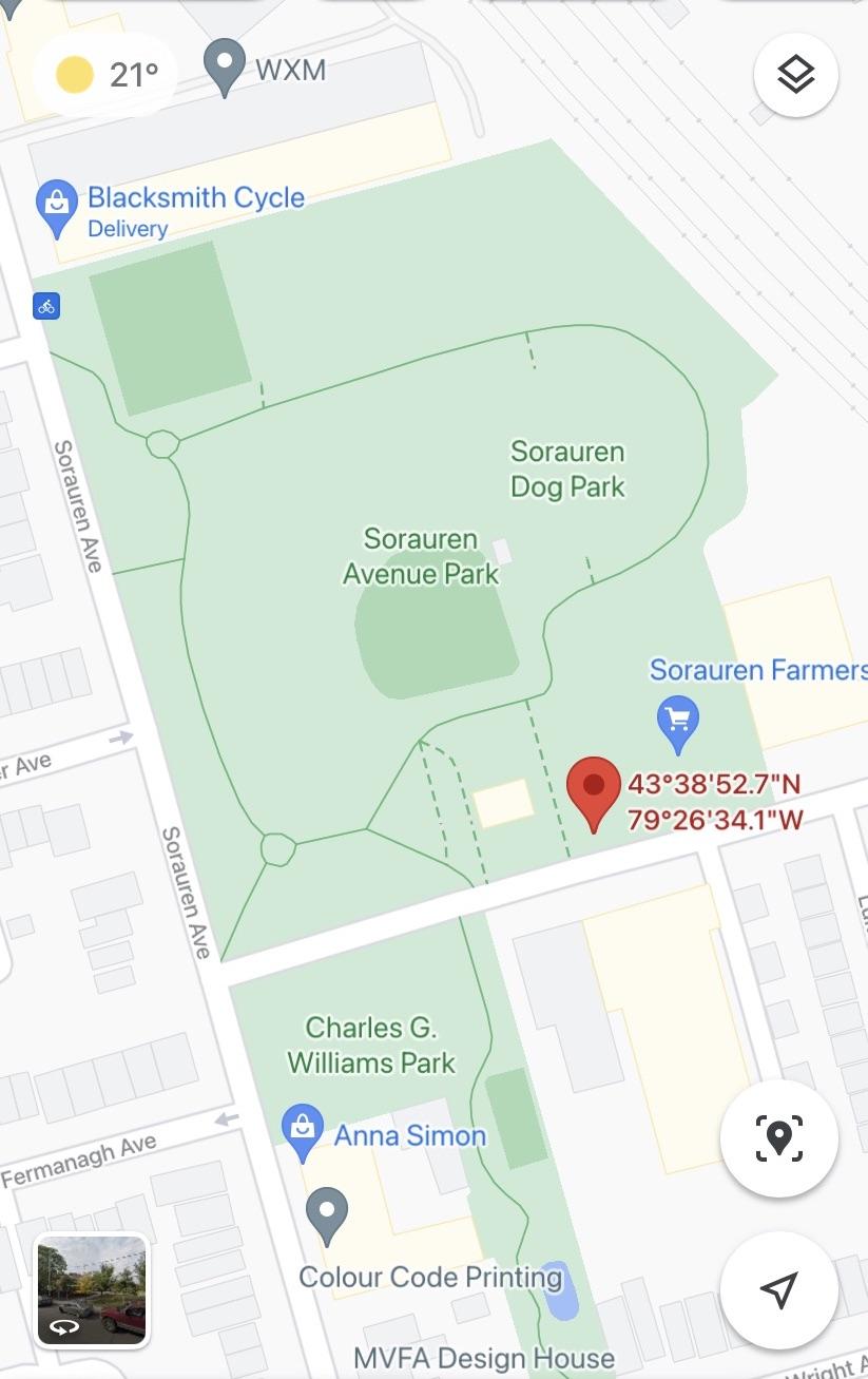 Sorauren Park Meeting Location